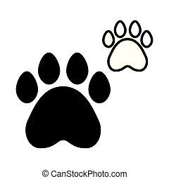 paws pet on white background