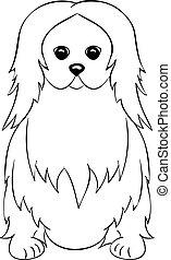 Pekingese cartoon dog icon
