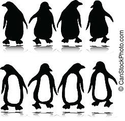 penguin vector silhouettes