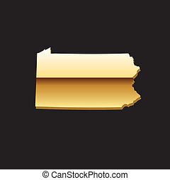 Pennsylvania gold map