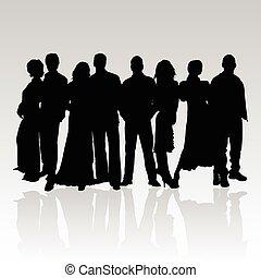 people black vector silhouette
