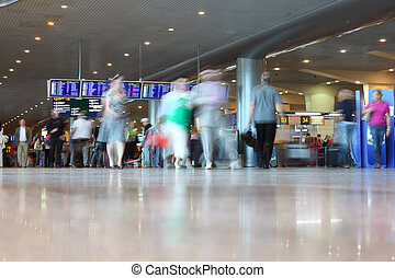 people in airport