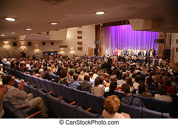 people in the concert hall
