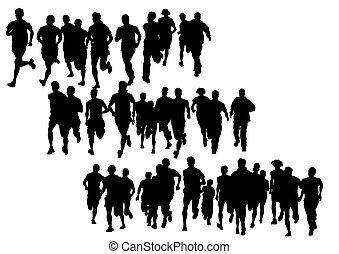 People of running
