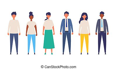 People of various races are standing