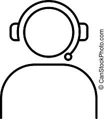 people operator icon of vector illustration