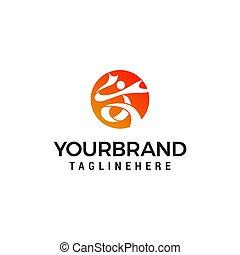 people sport logo design concept template vector