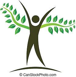 People tree logo design element