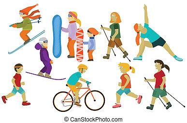 People (various sport activities)