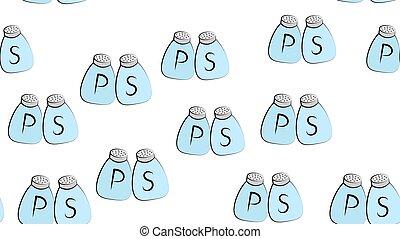 pepper salt bottle seamless vector pattern sugar scarf isolated tile background repeat wallpaper