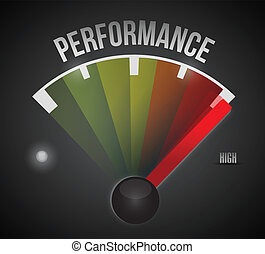 performance level measure meter from low to high, concept illustration design