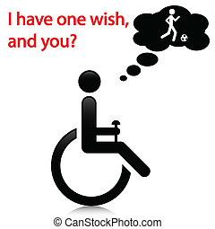 Illustration wish people with disabilities as a message.