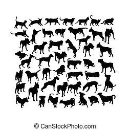 Pet Animal Silhouettes