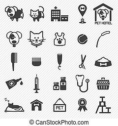 Pet Care icons set. illustration eps10