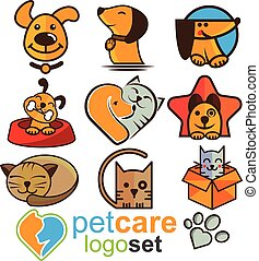 pet care logo concept designed in a simple way so it can be use for multiple proposes like logo ,marks ,symbols or icons.