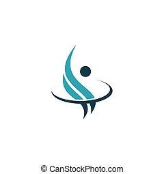 Pet Care Logo with Dog, Cat, Bird and Hand Symbols