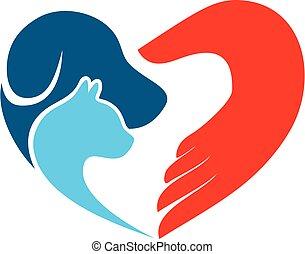 Pet Care love logo