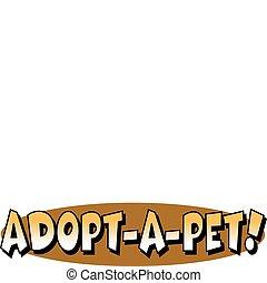 Pet Dog Adoption Sign Clip Art