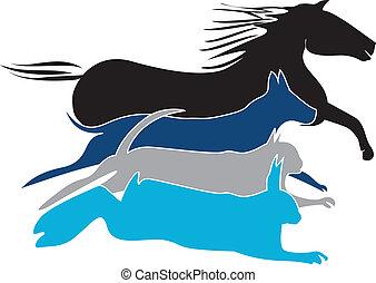 Pets logo vector