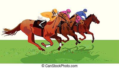Pferderennen-Derby
