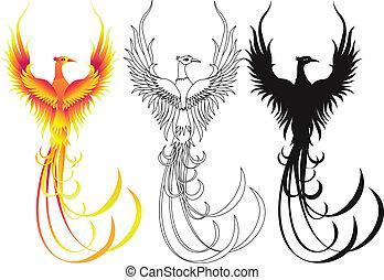 Vector illustration of phoenix bird