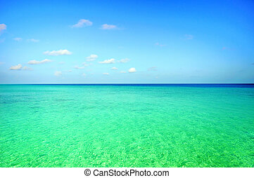 Picture of ocean scene at Maldives.