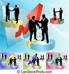 piechart people business concept illustration