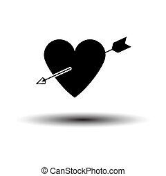 Pierced Heart By Arrow Icon