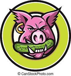 pig-head-biting-pickle-CIRC-MASCOT
