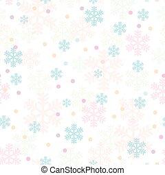 Pink blue Christmas snowflakes seamless pattern