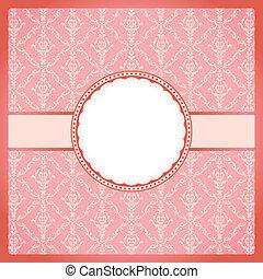 Pink round vintage frame
