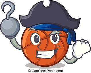 Pirate basket ball in the character shape