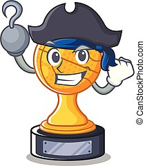 Pirate basketball trophy isolated in the mascot