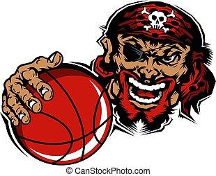 pirates basketball mascot