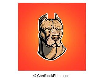 Pit bull head vector