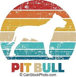 Pitbull vintage retro
