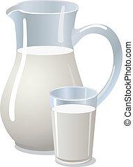pitcher with milk
