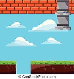 pixel game scene level arcade retro