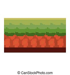 pixel video game ground scene