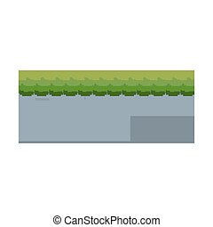 pixel video game level interface