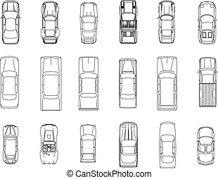 car vector drawing line , EPS10