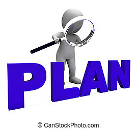 Plan Character Showing Plans Objectives Planning And Organizing