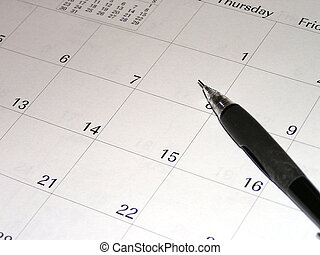 Calendar and pencil, indicate future planning or scheduling