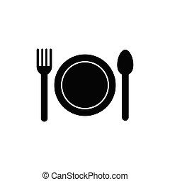 Plate fork and knife icon.