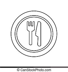 Plate fork and knife icon Illustration design