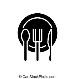 plate fork knife icon for your design