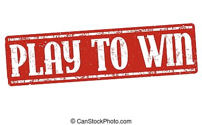 Play to win grunge rubber stamp on white background, vector illustration