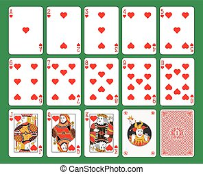 Playing Cards Hearts Suit