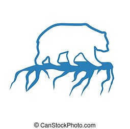 Polar bear and global warming logo