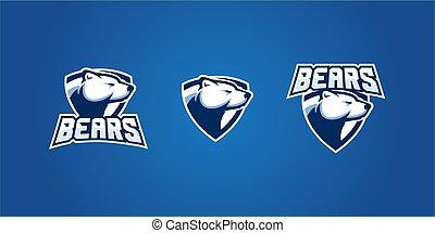 polar bear e sport esport gaming poker russia logo vector emblem badge